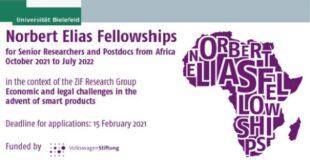 Norbert Elias Fellowship 2021 for African Scholars