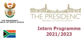 The Presidency of South Africa Internship Programme 2021 for Unemployed Graduates