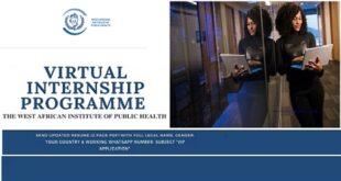 WAAPH Virtual Internship Programme 2021 for West Africans
