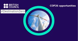 British Council DestinationZero challenge 2021 (COP26 opportunities) for Young People