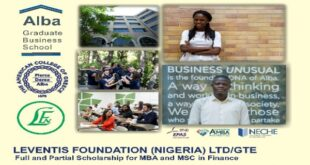 Leventis Foundation MBA and MSc Scholarship