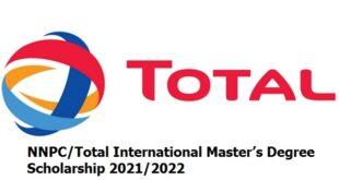 NNPC/Total International Master's Degree Scholarship 2021/2022