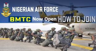 Nigerian Air Force Recruitment 2021 (BMTC): How to Apply