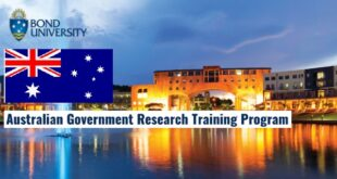 Australian Government Research Training Program Scholarship at Bond University, 2021