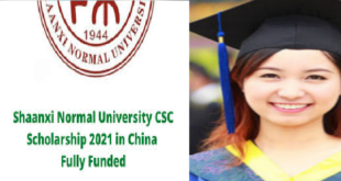 Shaanxi Normal University Chinese Government Scholarship (Independent Enrollment) 2021-2022