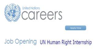 United Nations Internship Human Rights 2021 for Students and Graduates