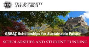 University of Edinburgh GREAT Scholarships for Sustainable Future