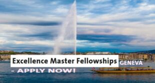 University of Geneva Excellence Master Fellowships in Sciences, 2021/2022