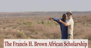 Francis H. Brown African Scholarship 2021/2022 for Postgraduate