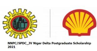 NNPC/SPDC_JV Niger Delta Postgraduate Scholarship 2021