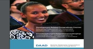 DAAD Development-Related Postgraduate Courses (EPOS) Scholarships 2021/2022 for Foreign Students