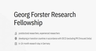 Georg Forster Research Fellowship in Germany