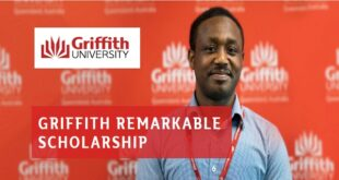 Griffith Remarkable Scholarship in Australia 2021-2022 (Bachelor and Masters)
