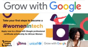 Grow with Google Professional Certificate Scholarship for African Women 2021