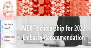 Japanese Government (MEXT) Scholarship 2022 for Undergraduate Study (Fully-Funded)