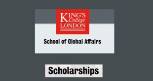 King's College London School of Global Affairs Postgraduate Scholarships 2021/2022