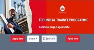 Nigerian Bottling Company Technical Trainee Programme 2021 [Application Open]