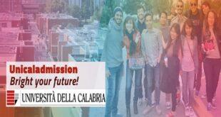 Università della Calabria International Master Degrees Scholarships 2021/2022