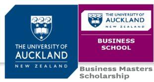 University of Auckland New Zealand Masters Scholarships 2021-2022