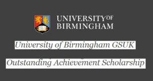 University of Birmingham GSUK Middle East & N. Africa Scholarship 2021/22