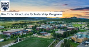 University of British Columbia Rio Tinto Graduate Scholarship 2021/22