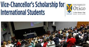 University of Otago Vice-Chancellor's Scholarships 2021/2022 for International Students