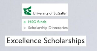 University of St.Gallen – Switzerland Excellence Scholarships 2021/2022 for Foreign Students