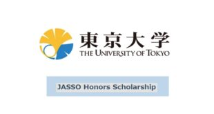University of Tokyo JASSO Honors Scholarship for *International Students