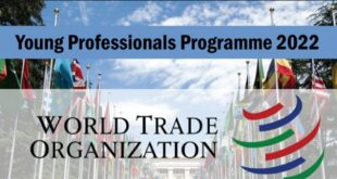World Trade Organization Young Professionals Programme 2022 for Young Graduates