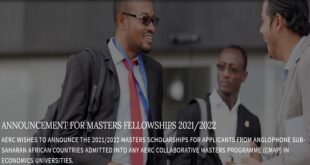 African Economic Research Consortium Masters Scholarships