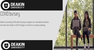Deakin COVID Bursary 2021 for International Students