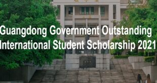 Guangdong Government Outstanding International Student Scholarship in China