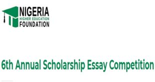 Nigeria Higher Education Foundation Scholarship Essay Competition
