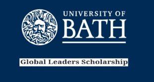 University of Bath Global Leaders Scholarships 2021/22 for International Students