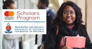 University of Pretoria MasterCard Foundation Scholarships 2021-2022