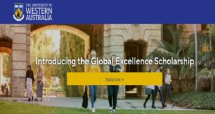 University of Western Australia Global Excellence Scholarship