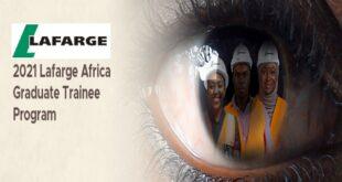 Lafarge Africa Graduate Trainee Program 2021 for Recent Graduates