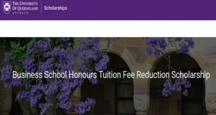 Queensland Business School Tuition Reduction Scholarship
