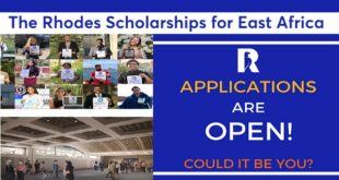 Rhodes Scholarships for East Africa and Kenya 2021/2022 [Fully Funded]