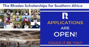Rhodes Scholarships Southern Africa 2021/2022 [Fully Funded]